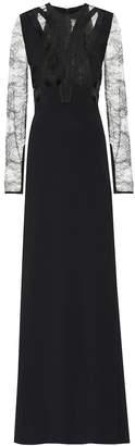Elie Saab Crepe and lace dress