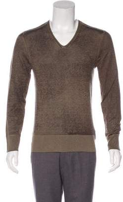 John Varvatos Silk V-Neck Sweater