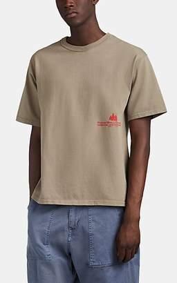 "BEIGE Reese Cooper Men's ""Western World Development"" Cotton T-Shirt - Beige, Tan"