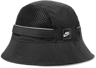 Nike Sportswear Logo-Appliqued Nylon and Mesh Bucket Hat - Men - Black