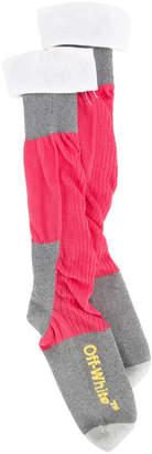 Off-White color-blocked socks