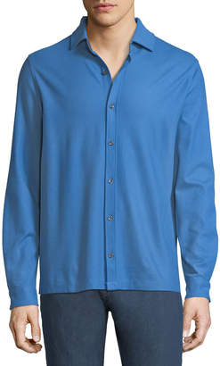 Bugatchi Men's Pique-Knit Button-Front Sport Shirt