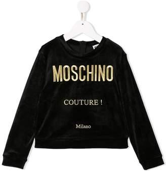 Moschino Kids TEEN embroidered logo sweatshirt