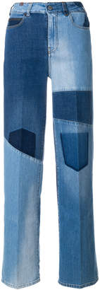 Notify Jeans wide patchwork jeans