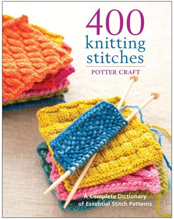 """Crafts & Sewing Potter Craft Books """"400 Knitting Stitches"""" Book by Random House"""