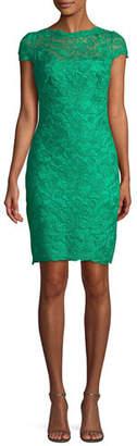 Tadashi Shoji Lace Sheath Illusion Dress