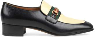 Gucci Leather loafer with Interlocking G Horsebit