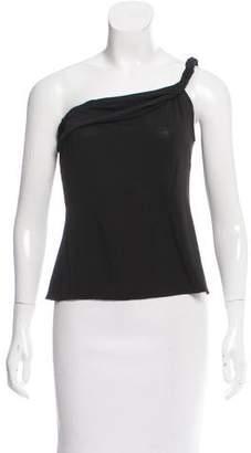 Alberta Ferretti Semi-Sheer One-Shoulder Top