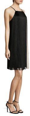 BOSS Dafryna Fringe Trim Dress $875 thestylecure.com