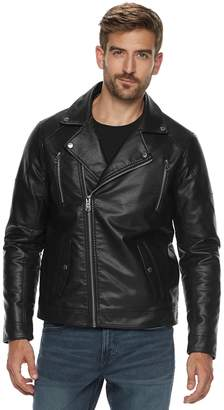 Marc Anthony Men's Slim-Fit Faux-Leather Moto Jacket