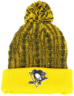 Authentic Nhl Headwear Women Pittsburgh Penguins Iconic Ace Knit Hat