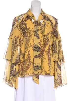Keepsake Pleated Floral Print Blouse