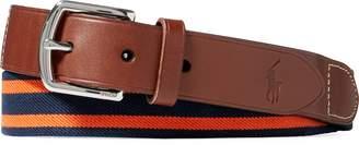 Ralph Lauren Striped Stretch Webbed Belt