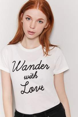 Forever 21 Wander With Love Graphic Tee