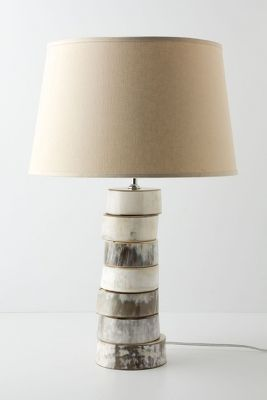Anthropologie Stacked Horn Lamp Base