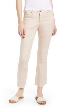 AG Jeans Jodi Pinstripe High Waist Crop Flare Jeans