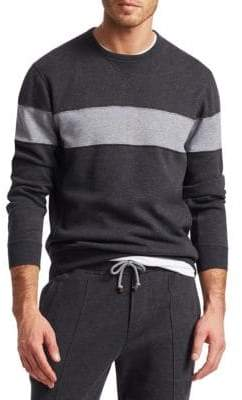 Brunello Cucinelli Spa Colorblock Crew Sweater