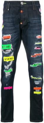 Philipp Plein Mirrors super straight jeans