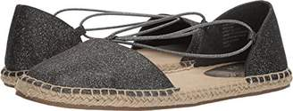 Kenneth Cole Reaction Women's How Laser Flat Espadrille with Elastic Straps Wedge Sandal