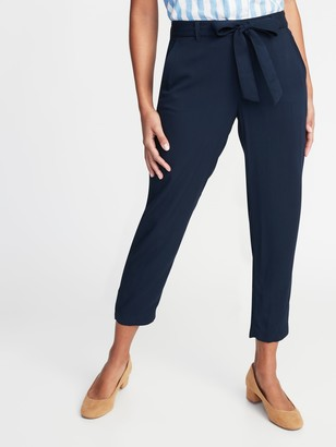 Old Navy Mid-Rise Tie-Waist Soft Cropped Pants for Women