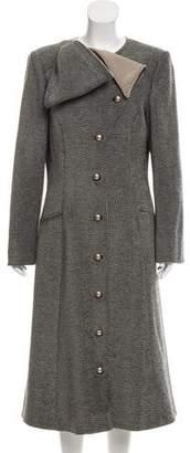 Giorgio Armani Wool Herringbone Coat