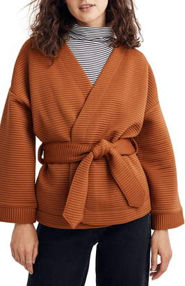 Madewell Texture & Thread Quilted Wrap Jacket