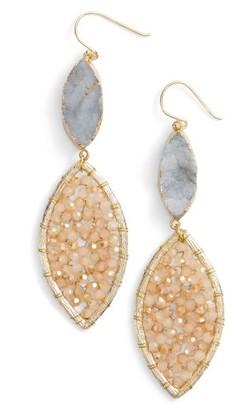 Women's Panacea Sunstone Crystal Earrings $48 thestylecure.com