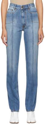 Maison Margiela Indigo Slim Seamed Jeans