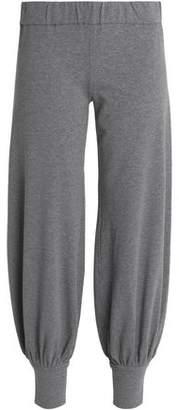 Norma Kamali Melange Slub-jersey Cotton Track Pants