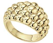 Lagos Caviar Gold Bold Dome Ring