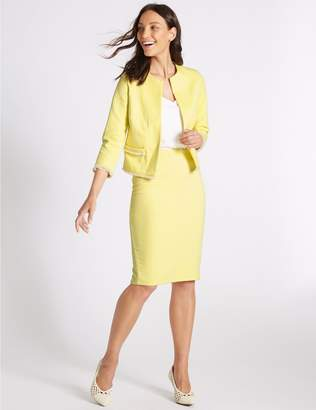 Marks and Spencer Cotton Rich Textured Trophy Jacket