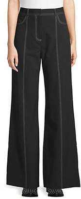 Missguided Contrast Stitch Wide-Leg Pants