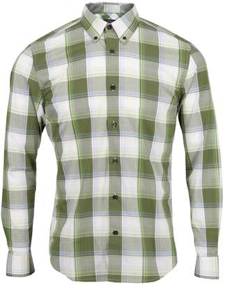 Lords of Harlech - Morris Shirt In Olive Large Gingham