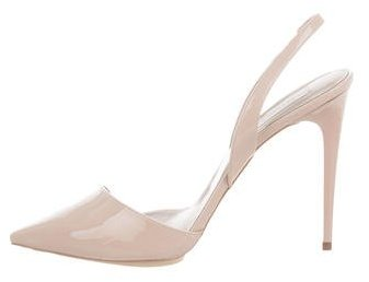 Stella McCartney Patent Leather Slingback Pumps