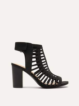 Extra Wide Caged Peep Toe Booties