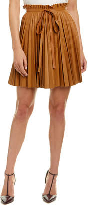 RED Valentino Leather A-Line Skirt