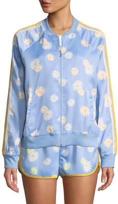 Juicy Couture Daisy Satin Bomber Jacket