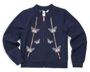 Little Girl's & Girl's Reversible Bomber Jacket