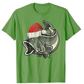 Christmas Largemouth & Smallmouth Bass Fishing T-Shirt