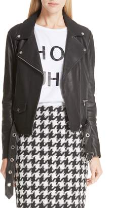 HUGO Limari Leather Jacket