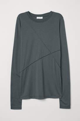 H&M Silk-blend Top - Green