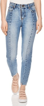 Sandro Miren Cropped Skinny Jeans in Blue $275 thestylecure.com