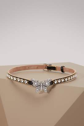 Gucci Crystal studded butterfly choker