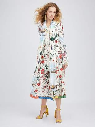 Oscar de la Renta Silk Road King Twill Shirtdress