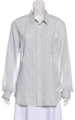 AllSaints Long Sleeve Button Up Top
