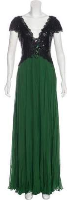 Alberto Makali Silk Embellished Gown w/ Tags
