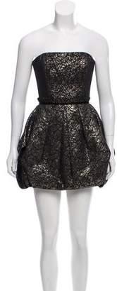 Rachel Zoe Metallic Accented Mini Dress