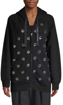 Marc Jacobs Embellished Zip-Up Hoodie