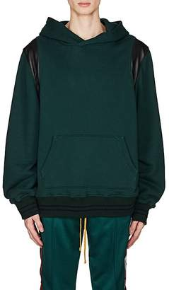 Amiri Men's Leather-Inset Cotton Oversized Hoodie