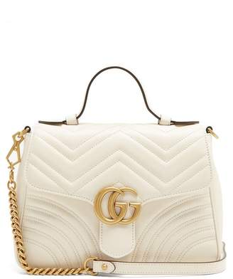 Gucci Gg Marmont Quilted Leather Shoulder Bag - Womens - White